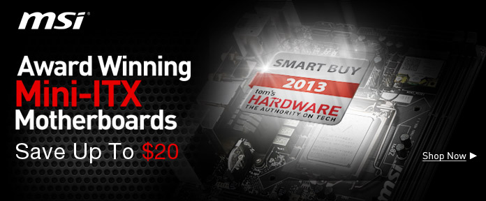 Award Winning Mini-ITX Motherboards