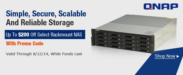 Up to $200 off Rackmount NAS with promo code