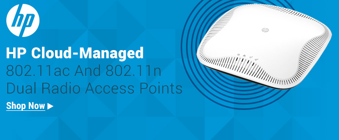 HP Cloud-Managed Dual Radio Access Points