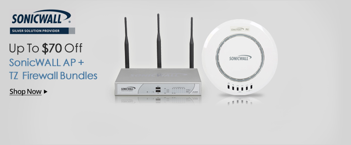 Up To $70 Off SonicWALL AP+TZ Firewall Bundles