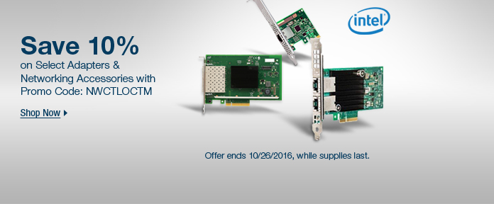 Intel NIC Cards 10% Off