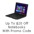 Up To $20 Off Notebooks With Promo Code