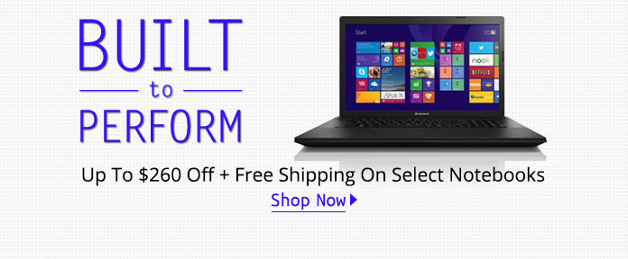 Up To $260 Off + Free Shipping On Select Notebooks