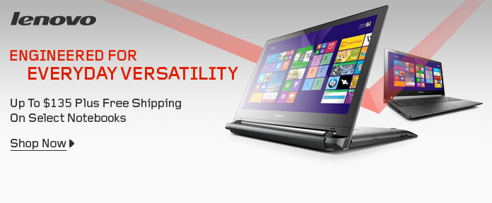 Up to $135 Plus Free Shipping On Select Notebooks