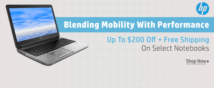 HP Notebooks Up To $200 Off