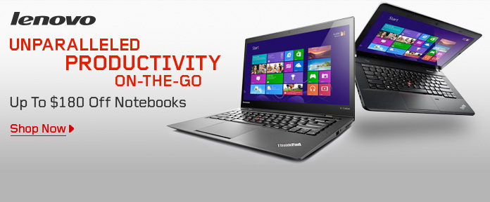 Up to $180 Off Notebooks