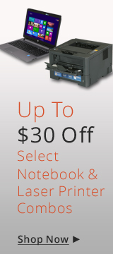 Up to $30 off Select Notebook & Laser Printer combos