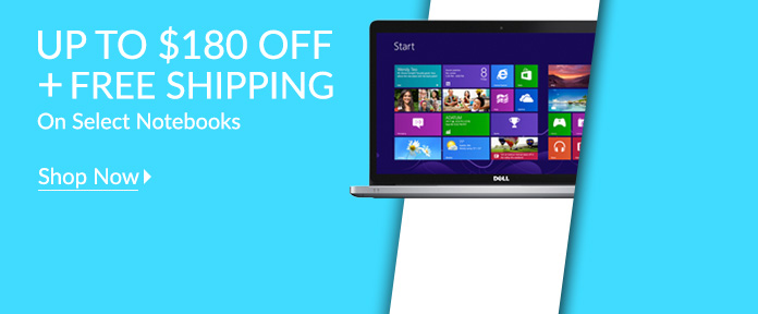 Up to $180 off + Free Shipping on Select Notebooks