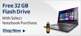 Free 32GB flash drive with select Notebook purchase