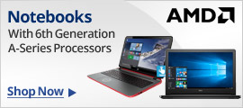 Notebooks with 6th Generation A-series processors