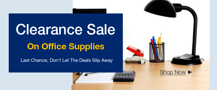 Clearance Sale on Office Supplies
