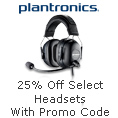 Plantronics 25% Off Select Headsets with Promo Code