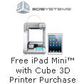 Free iPad mini with Cube 3D Printer Purchase