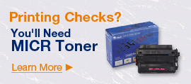 Printing Checks? You'll Need MICR Toner