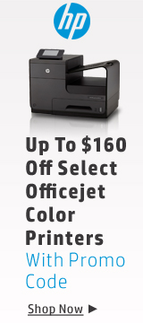 Up to $160 off select OfficeJet color printers with promo code