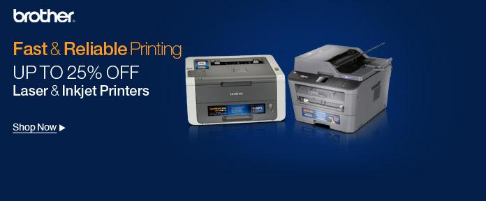 Up to 25% off laser & Inkjet printers