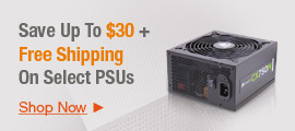 Save up to $30 + Free Shipping on Select PSUs