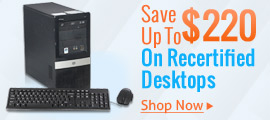 Save up to $220 on Recertified Desktops
