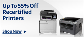 Up To 55% Off Recertified Printers