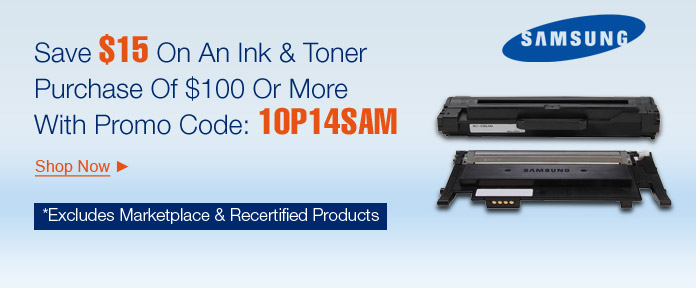 Save $15 On An INK & Toner Purchase of $100 Or More With Promo Code