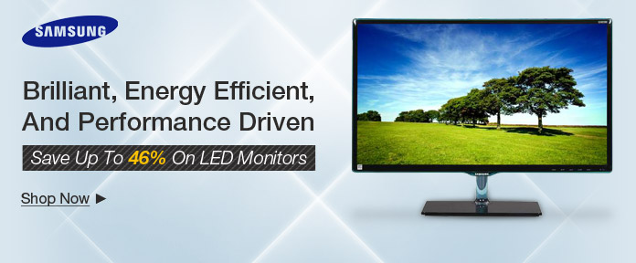 Save Up to 46% on LED Monitors