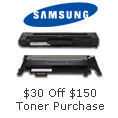 $30 off $150 Toner purchase