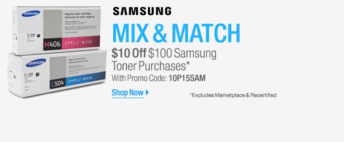 Samsung Toner: $10 Off $100