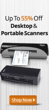 Up to 55% Off Desktop & Portable Scanners