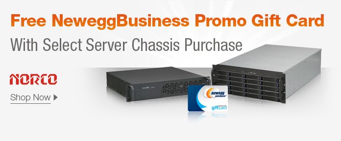Free NeweggBusiness Promo Gift Card with Select Server Chassis Purchase