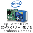 Up to $45 off E3V3 CPU + MB combos