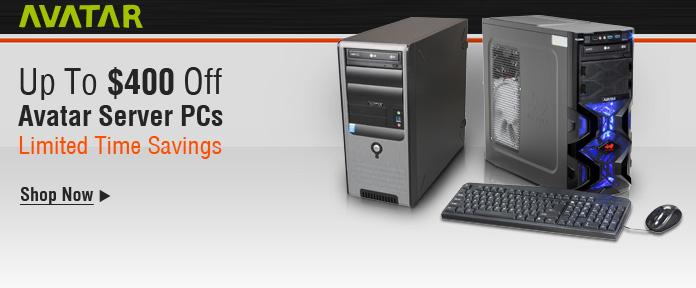 Up to $400 off Avatar server PCs