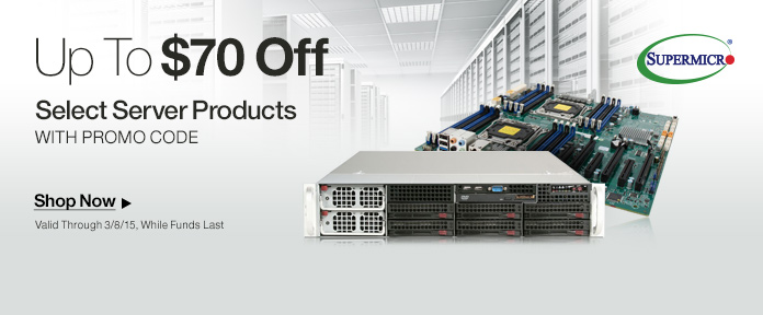Up to $70 off server products