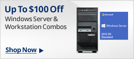 Up to $100 off Windows Server & Workstation Combos