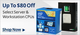 Up to $80 off select server & workstation CPUs