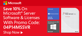 10% off server software & licenses w/ promo code