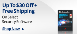 Up to $30 off + free shipping on select Security Software