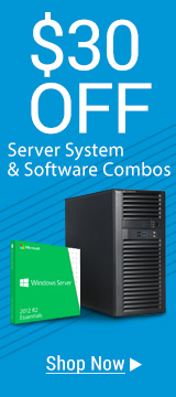 $30 off Sever System & Software Combos