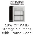 10% Off select RAID Storage Solution with promo code
