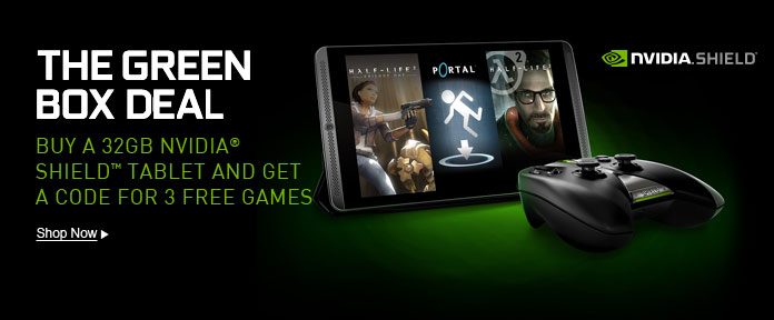 Free Games With NVIDIA® Shield™ Purchase