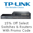 15% off select switches & routers with promo code