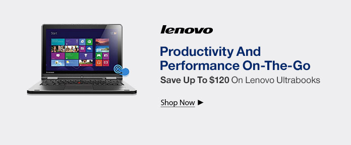 Lenovo Ultrabooks - Save Up To $125 Off