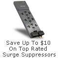 Save up to $10 on top rated surge suppressors