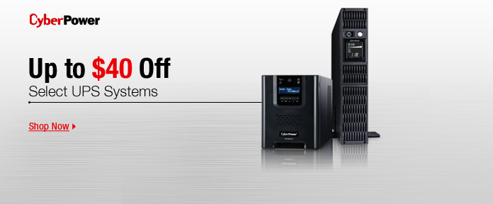 Up to $40 off: select UPS systems