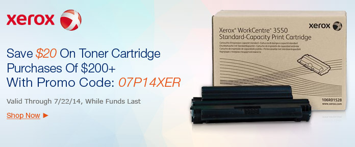 Save $20 On $200 + Toner Cartridges