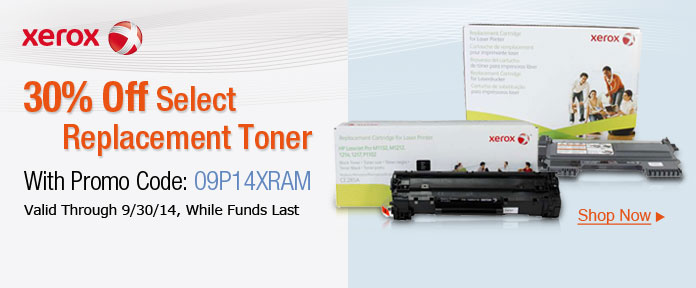 30% Off Select Replacement Toner