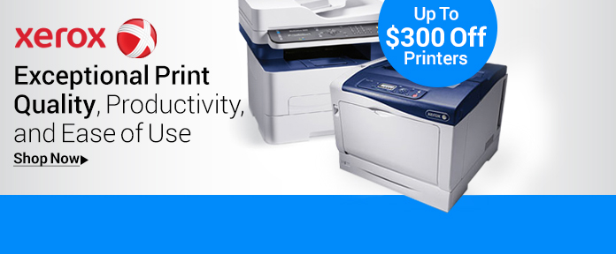 Xerox Phaser, WorkCentre, ColorQube Printers Up To $300 Off